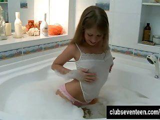 Brown Dark Brown Teenager Adolescente Grace Toying Cookie in Tube Baths