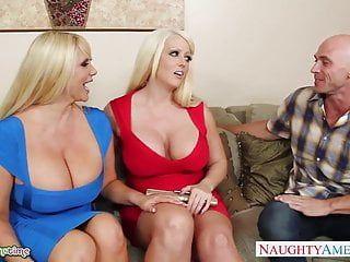 Breasty alura jenson fuck in trio