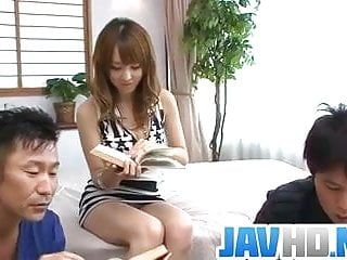Japanese av model copulates hard in raw oriental 3some porn