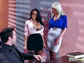Brazzers - hawt three-some in the office