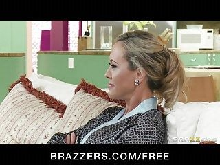 Brazzers - golden-haired milf brandi love is massaged screwed
