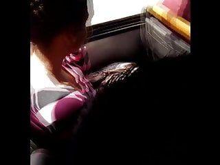 Youthful merry bra buddies on bus chica con tetas paraditas two