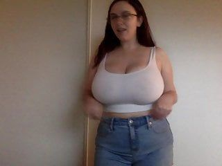 Obese boober mm in moist t-shirt