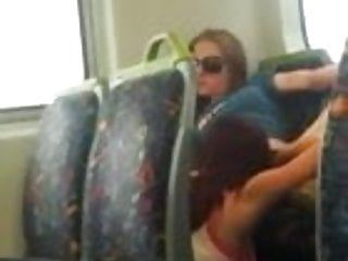 Sexy lesbian babes eating cunt on the public bus in melbourne