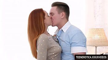 Juvenile redheaded vixen candy red is passionately pumped with a biggest dick