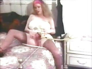 Vintage large boob chick disrobes and plays