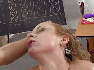 Concupiscent lesbos masturbating muff