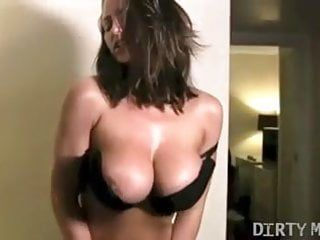 Nikki jackson plays with her large love melons and fur pie